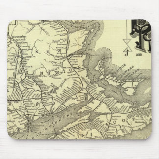 Map Boston and Maine Railroad 2 Mouse Pad