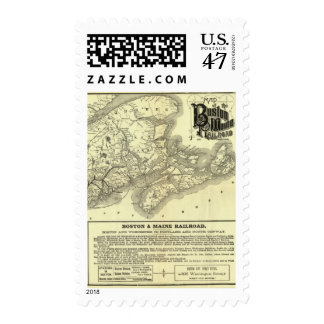 Map Boston and Maine Railroad 2 Postage