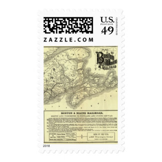 Map Boston and Maine Railroad 2 Postage Stamp