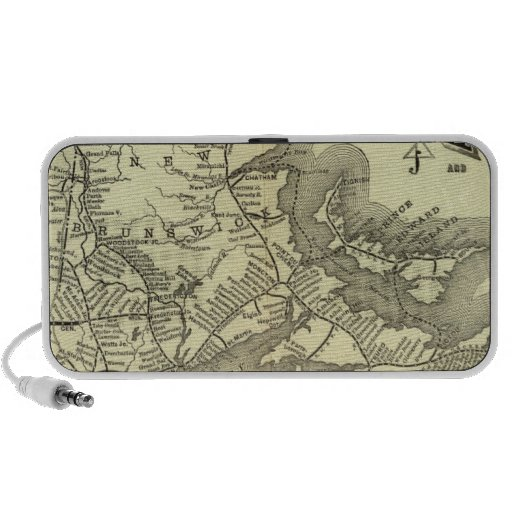 Map Boston and Maine Railroad 2 Travelling Speakers
