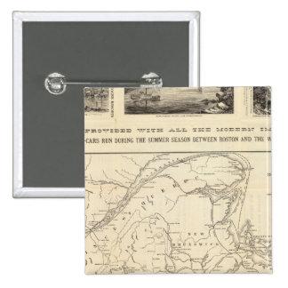 Map Boston and Maine Railroad Button