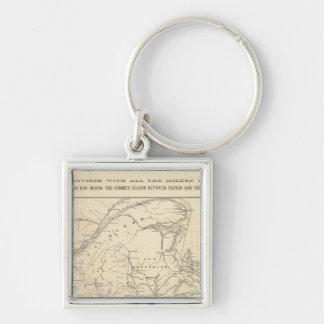 Map Boston and Maine Railroad Keychain