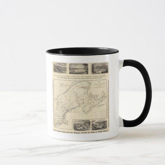 Map Boston and Maine Railroad Mug