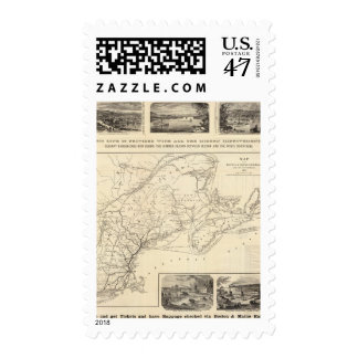 Map Boston and Maine Railroad Postage