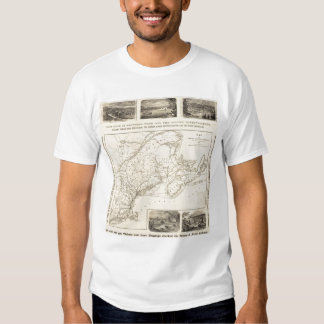 Map Boston and Maine Railroad T-shirt