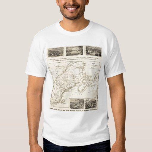 Map Boston and Maine Railroad T Shirts