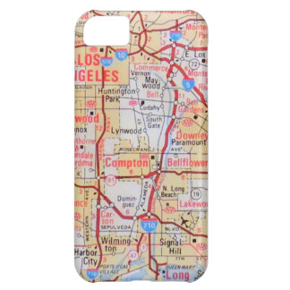 Map California LA Beverly Hills Beaches Photo Cover For iPhone 5C
