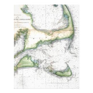 Map Cape Cod, Nantucket, Martha's Vineyard Letterhead
