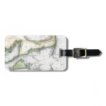 Beach Themed Map Cape Cod, Nantucket, Martha's Vineyard Luggage Tag