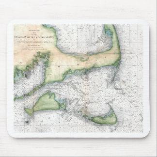 Map Cape Cod, Nantucket, Martha's Vineyard Mouse Pad