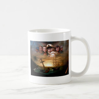 Map captain and five children of the American way Coffee Mug