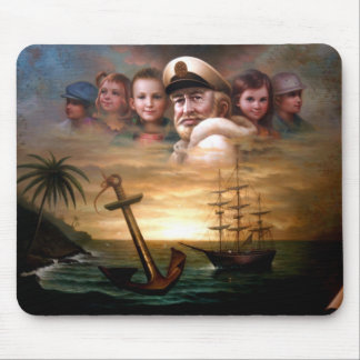 Map captain and five children of the American way Mouse Pad