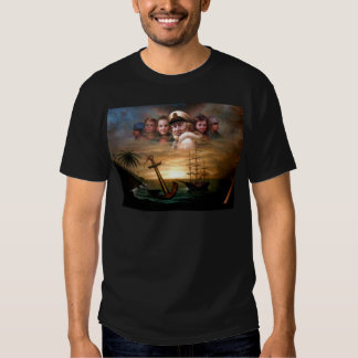 Map captain and five children of the American way Tee Shirt