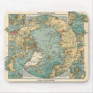 Map Centered on the North Pole Mouse Pad