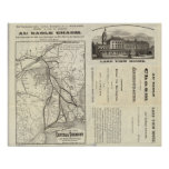 Map Central Vermont Railroad Poster