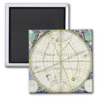 Map Charting the Movement of the Earth and Planets 2 Inch Square Magnet