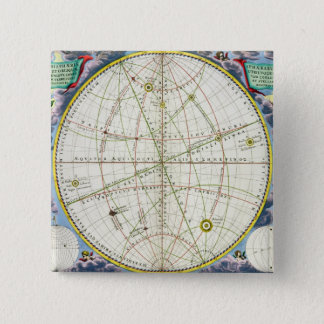 Map Charting the Movement of the Earth and Planets Pinback Button
