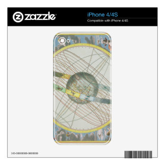 Map Charting the Orbit of the Moon around the Eart iPhone 4S Skins