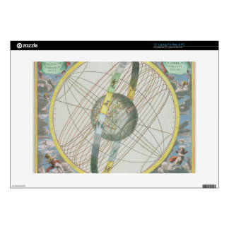 Map Charting the Orbit of the Moon around the Eart Laptop Skins