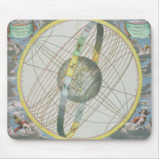 Map Charting the Orbit of the Moon around the Eart Mousepad