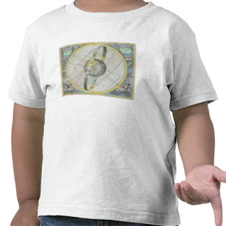 Map Charting the Orbit of the Moon around the Eart T Shirt