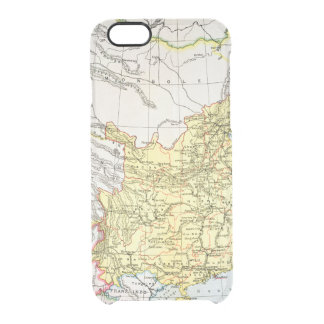MAP: CHINA, 1910 CLEAR iPhone 6/6S CASE