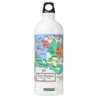 Map circa 1260 water bottle