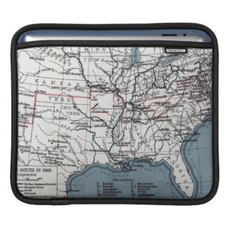 MAP: CIVIL WAR, 1861 iPad SLEEVE