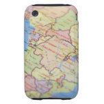 Map, close-up tough iPhone 3 cases