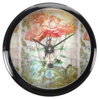 Map, Compass, Roses Aquavista Clocks