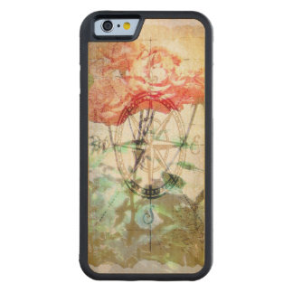 Map, Compass, Roses Carved Maple iPhone 6 Bumper Case