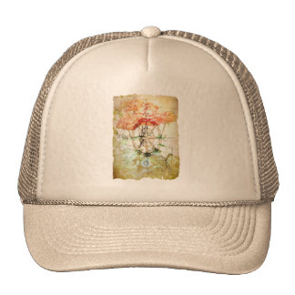 Map, Compass, Roses Hat