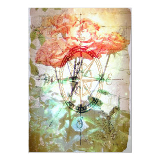 Map, Compass, Roses Invites