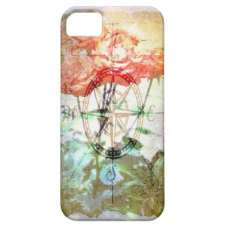 Map, Compass, Roses iPhone 5 Case