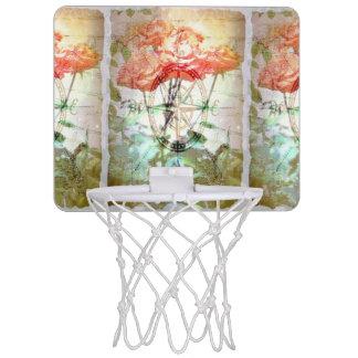 Map, Compass, Roses Mini Basketball Hoop