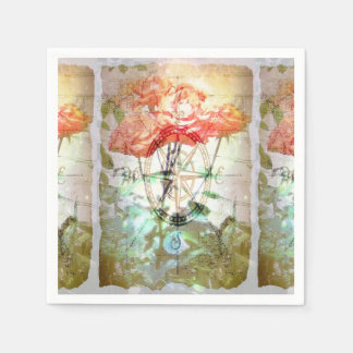 Map, Compass, Roses Paper Napkins