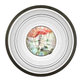 Map, Compass, Roses Pet Bowl