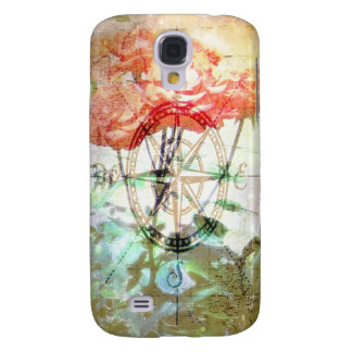 Map, Compass, Roses Samsung Galaxy S4 Cases