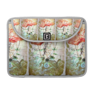 Map, Compass, Roses Sleeve For MacBooks