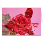 Map cordial one thanks red rose greeting card