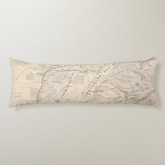 Map, Corrientes Prov, Terr Mission Body Pillow