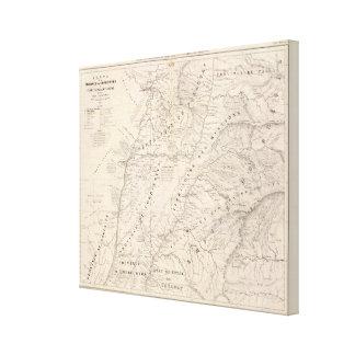 Map, Corrientes Prov, Terr Mission Canvas Print