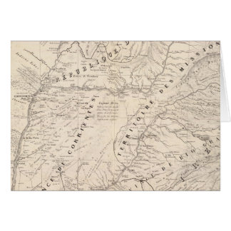 Map Corrientes Prov Terr Mission Greeting Card
