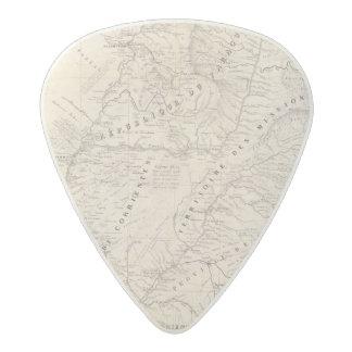 Map, Corrientes Prov, Terr Mission Acetal Guitar Pick