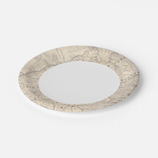 Map, Corrientes Prov, Terr Mission Paper Plate