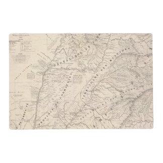 Map, Corrientes Prov, Terr Mission Placemat