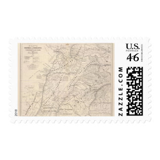 Map Corrientes Prov Terr Mission Postage Stamps