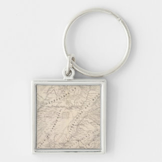 Map, Corrientes Prov, Terr Mission Silver-Colored Square Keychain