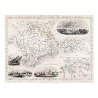 MAP: CRIMEA, c1855 Postcard