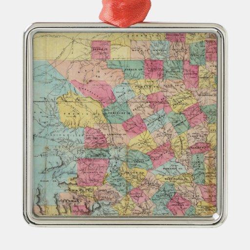 Map de De Cordova de Tejas Adornos De Navidad